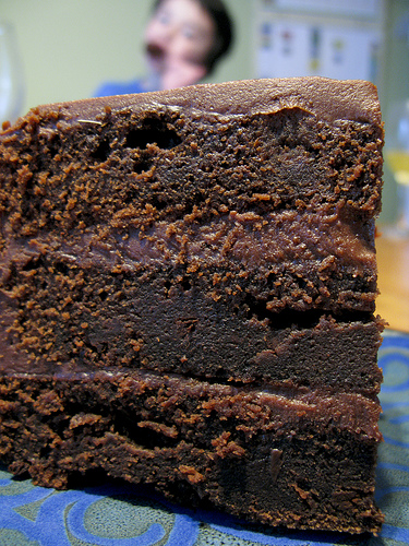 Dense Chocolatey Chocolate cake…