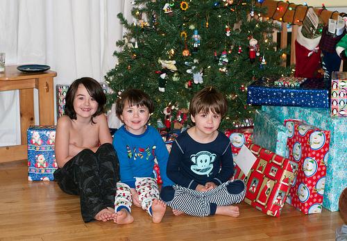 The boys early Xmas morning..