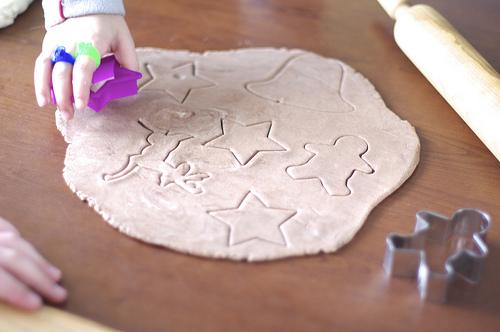 Salt dough shapes for Ornaments