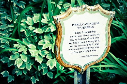 Sign in the Water Garden