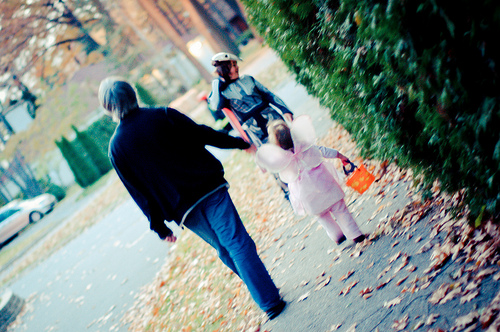 walking with daddy