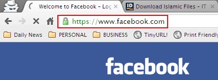 Cara Login Facebook HTTPS