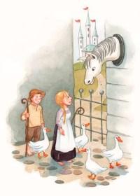 Illustration til eventyrbog