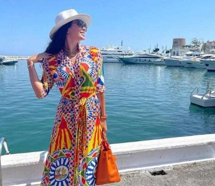 ياسمين صبري في أحدث إطلالاتها الصيفية