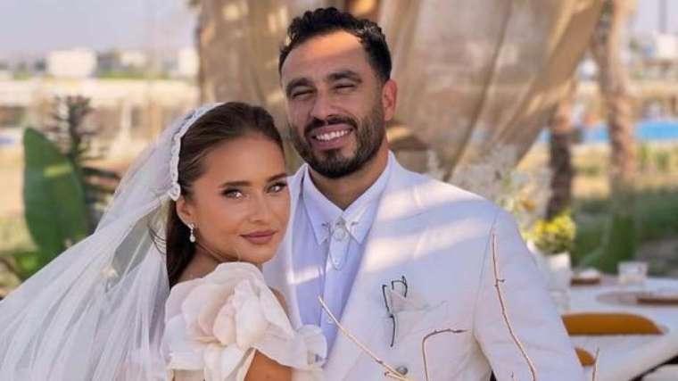فيديو حفل زفاف نيللي كريم وهشام عاشور وتعليق العروس: مش عارفة أنا متوترة ليه؟