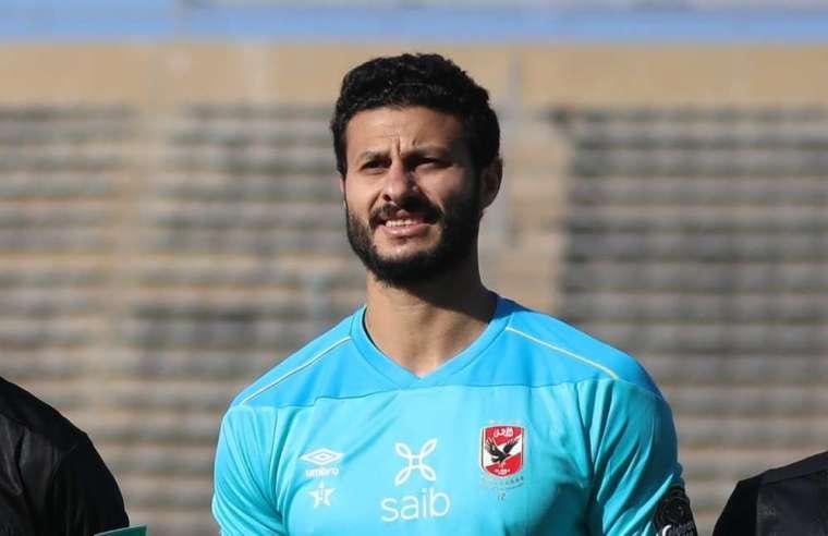 محمد الشناوي ووليد سليمان في جلسه استعادة الثقة مع لاعبي الأهلي