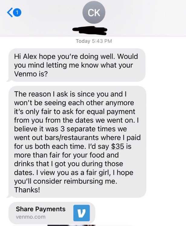 شاب يطلب من فتاة استرداد امواله