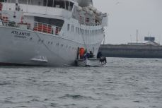 Ausbooten auf Helgoland