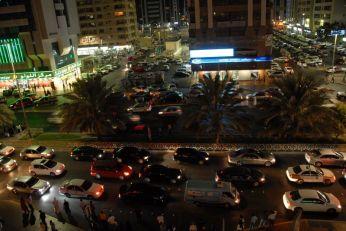 Traffic jam at the end of Ramadan