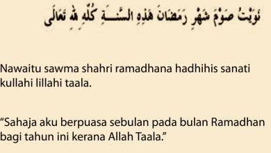 Hukum Niat Puasa Ramadhan Sebulan Penuh