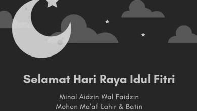 Ucapan Lebaran Hari Raya Idul Fitri