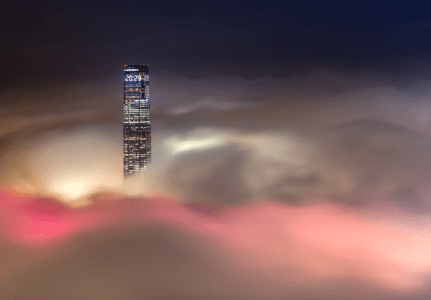 There are only 2-3 times to capture this view of the tallest building – ICC Mal – in Hong Kong every year. (Pic: CP Lau)