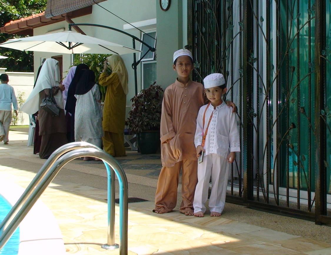With Abang Solah (Pak Cik Ismail's son)