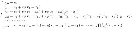 Solusi dari persamaan Interpolasi Newton