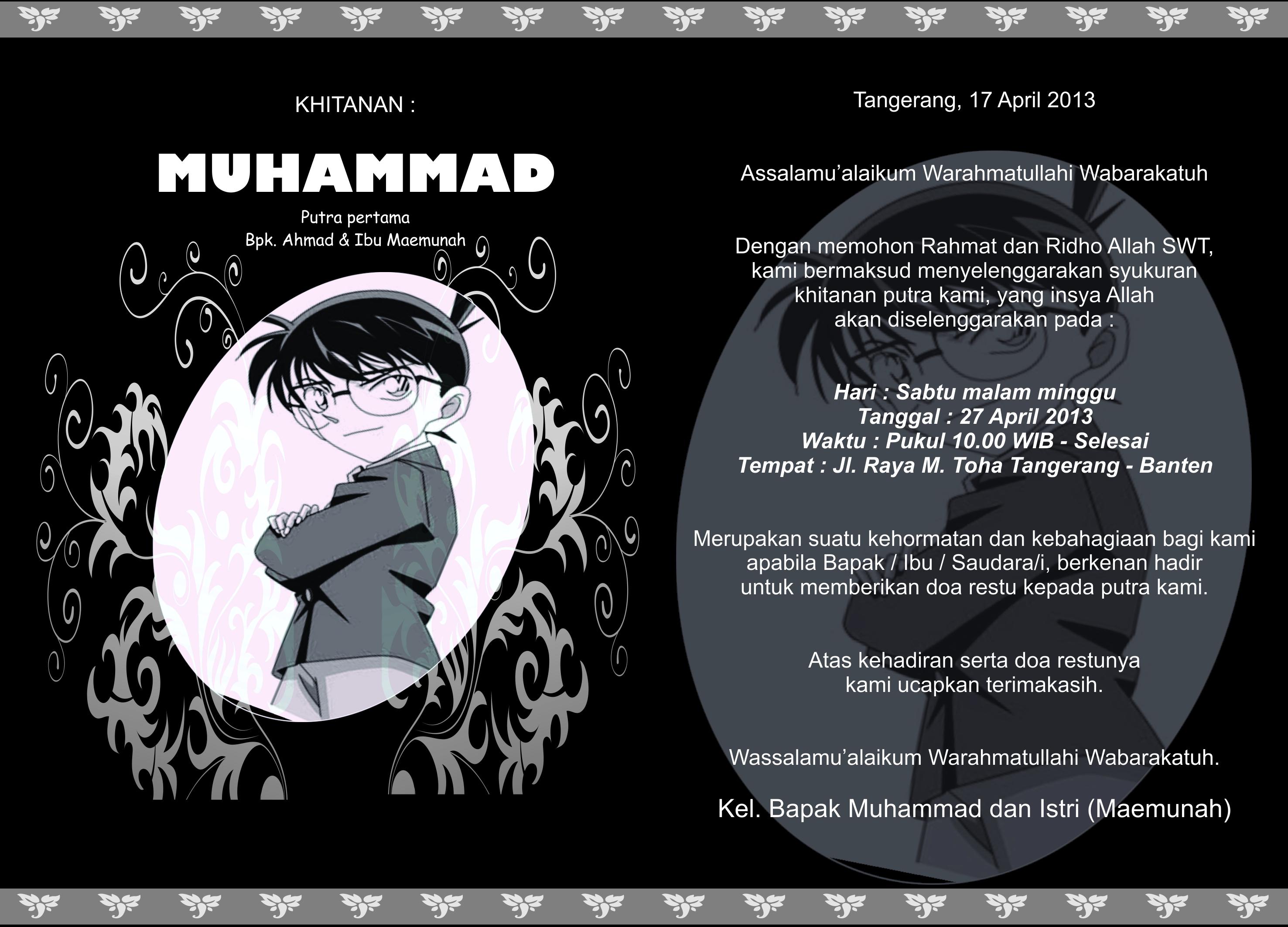 Contoh Undangan Khitanan Ahmadkahfi17
