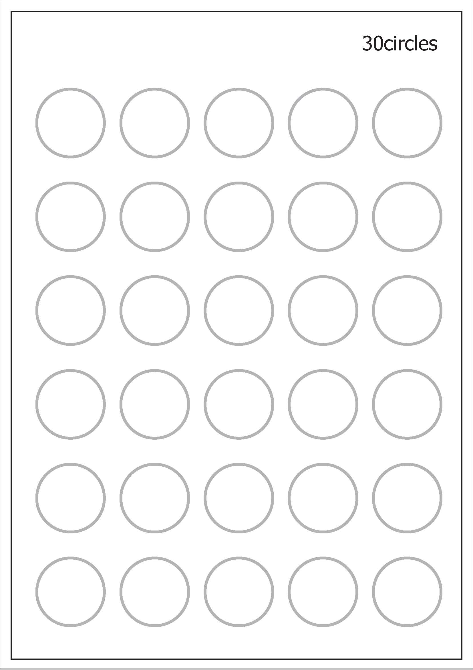 Try The 30 Circles Test