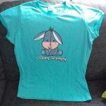 """Mein altes Disney-Shirt mit I-Aah und dem Schriftzug """"often grumpy""""."""