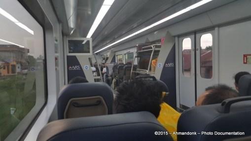 Didalam Kereta Bandara KNO