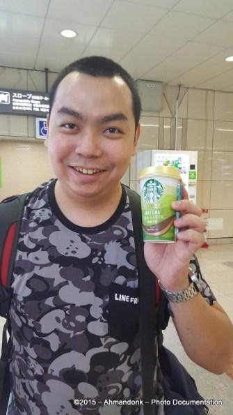 Ahman & Starbucks Matcha Tea Latte