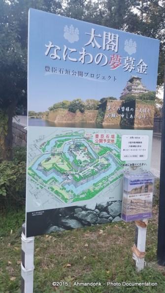 Menuju ke Osaka Castle