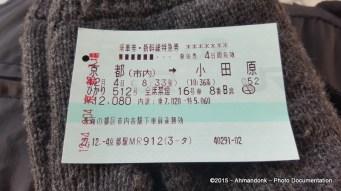 Tiket Shinkansen - Kyoto ke Odawara