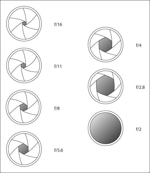 Diaphragm - Aperture Graph