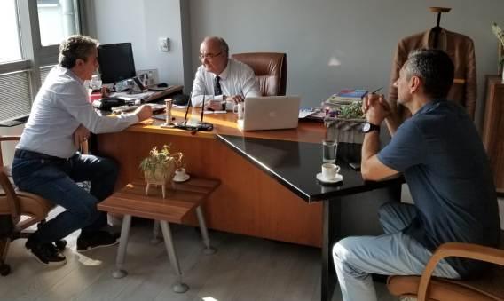 IMSIAD BASKANI MUSTAFA ANDIC VE MIMAR SENOL SIMSEK PROJEYI ANLATTILAR