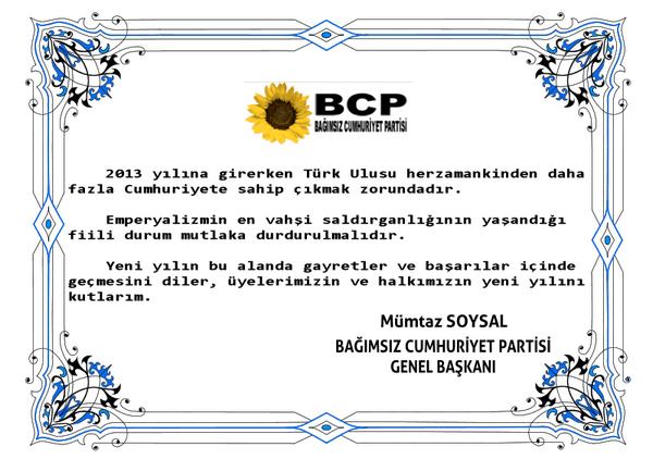 BCP Tebrik kartı 08