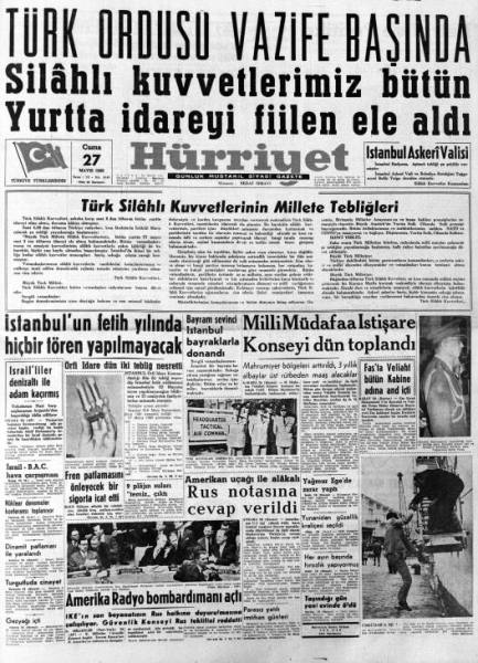 27_Mayis_1960_Hurriyet_Gazetesi