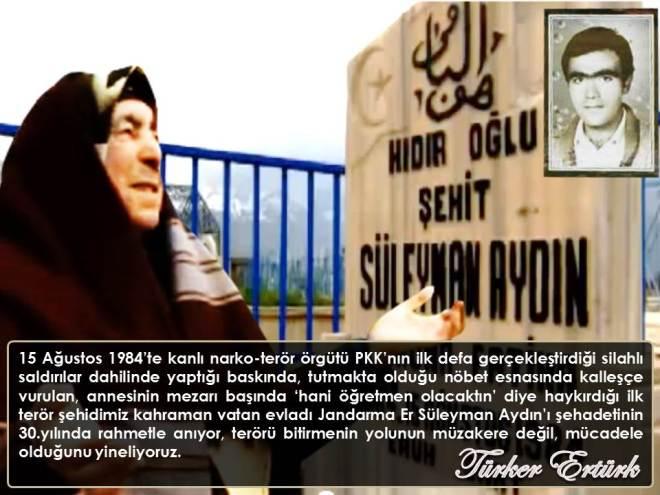 Şehit Jandarma Er Süleyman Aydın