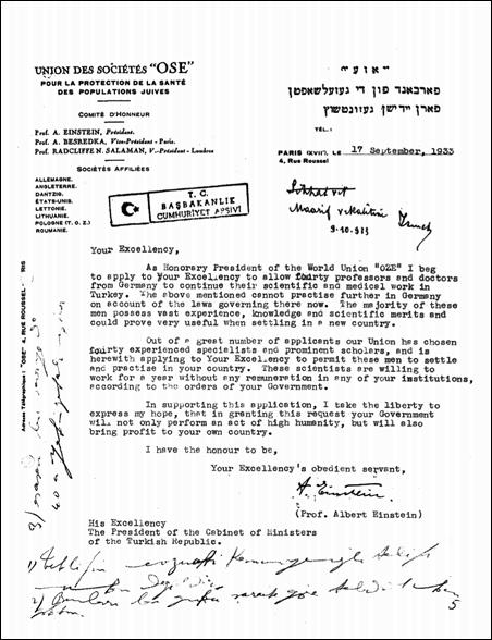 Einstein'in _Ataturk'e_mektubu