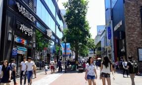 Dongseongro, the main shopping district of Daegu