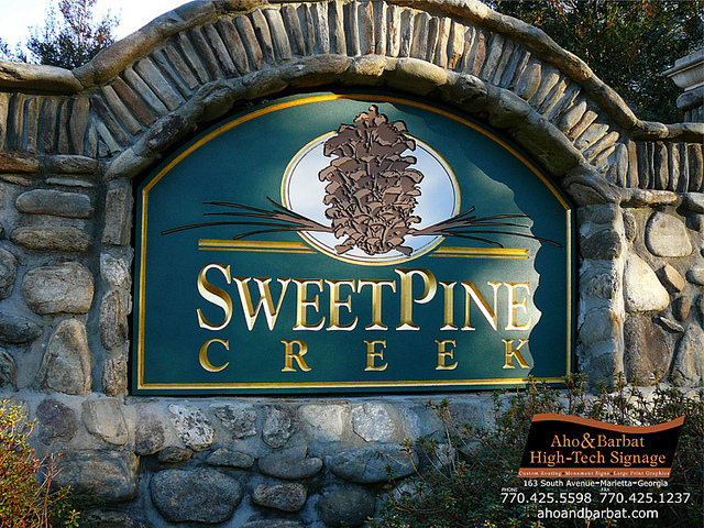 Custom Routed and Leafed Signs