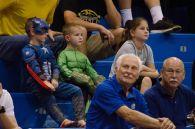 Fans watch the Kansas women's basketball game on Oct. 30. The Jayhawks won 98-71. Ashley Hocking/KANSAN