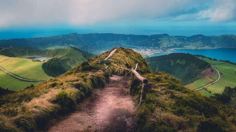 Miradouro Lagoa do Canario. DER Aussichtspunkt auf den Azoren.