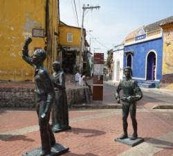 Stadtviertel Getsemani mit der Kirche Iglesia de la Trinidad