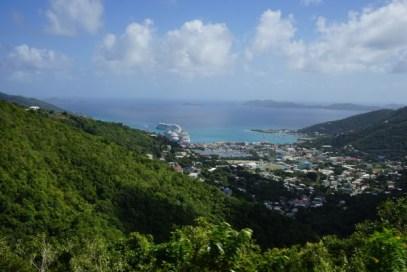 Tortola - Blick auf Road Town