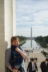 Kathy unterwegs in Washington