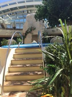 Body & Soul Spa - auf dem Weg zu meinem Platz an der Sonne - Pool