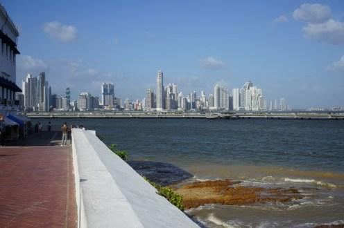 Panama City - Altstadt - Casco Viejo - Blick auf die Neustadt