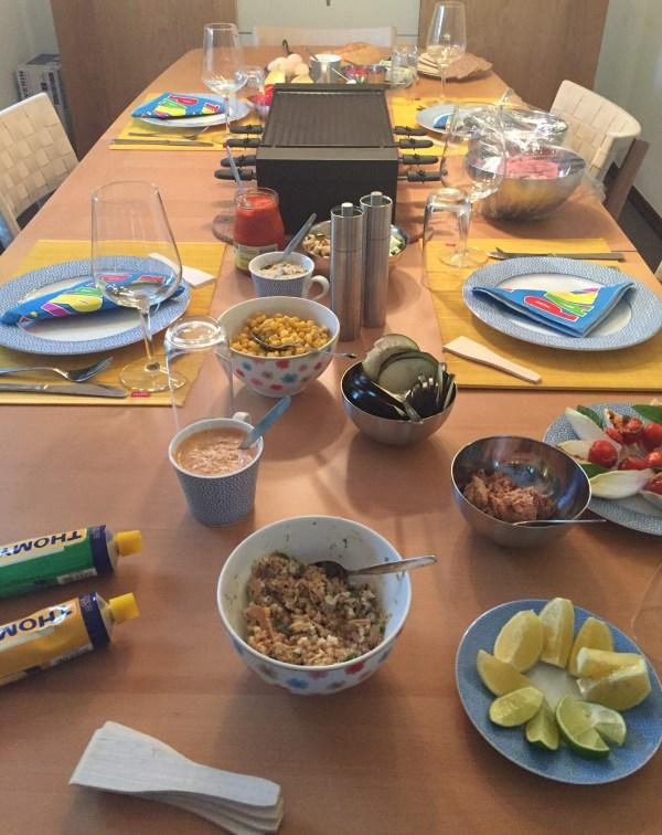 Abendessen - reichhaltiges Raclette