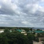 Blick auf das Hafenterminal von La Romana