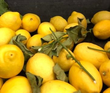 Markt Ausflug - am Obst- und Gemüsestand - Zitronen