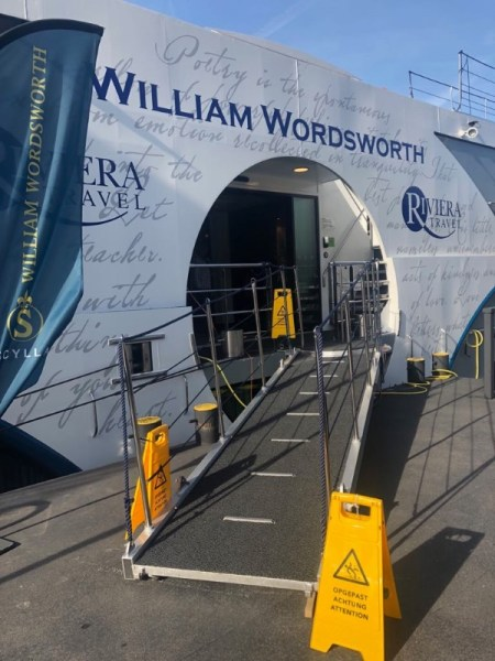 MS William Wordsworth - Gangway