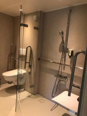 MS Viola - barrierefreie Kabine - Dusche und WC