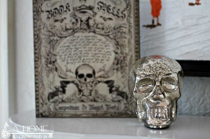 Spell Book and Mercury Skull
