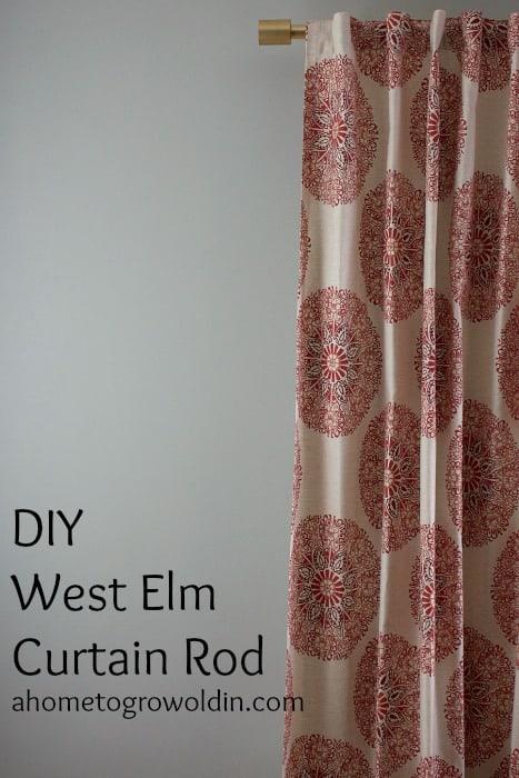 diy west elm oversized curtain rod a