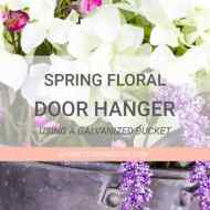 Spring Hanging Floral Door Decor