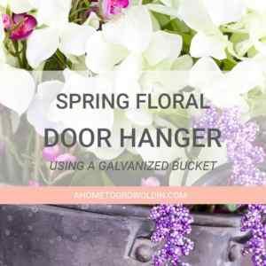 Spring Hanging Floral Door Decor
