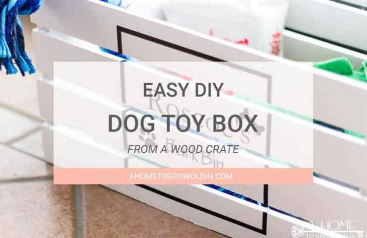 How To Make An Easy DIY Dog Toy Box
